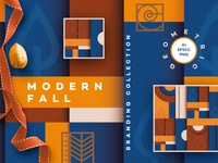 Modern Fall Branding Collection seamless Patterns