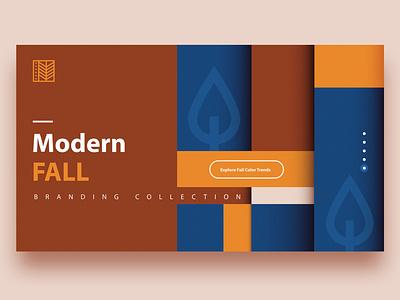 Modern Fall Branding modern header design landing web design de stijl pattern fall autumn ui branding minimalism abstract colorful vector geometric illustration