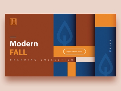 Modern Fall Branding modern header design landing web design de stijl pattern fall autumn ui branding minimalism abstract colorful vector geometric illustration