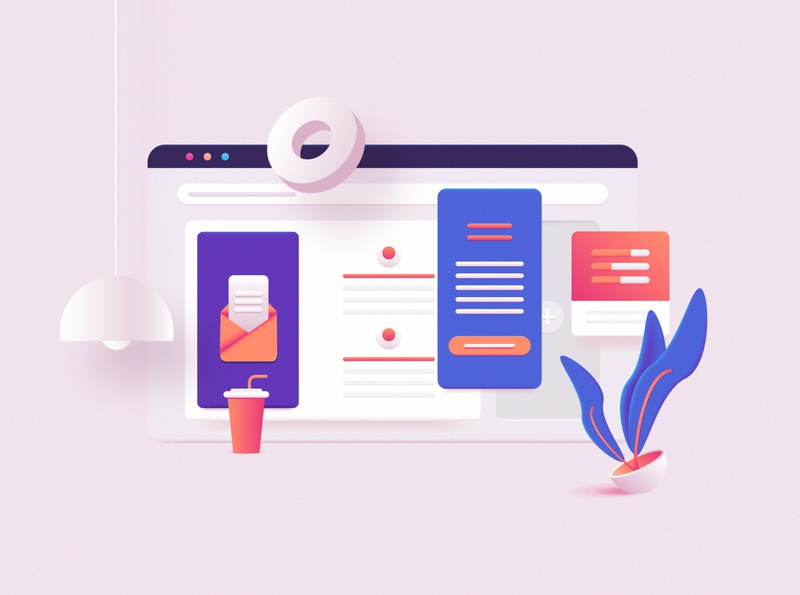 3D Toolkit - UI Elements Scene Creator landing page concept design dashboard ui ui elements user interface soft ui ui geometic plant soft 3d clay scene generator scene creator website builder website concept web illustration website design vector 3d render 3d