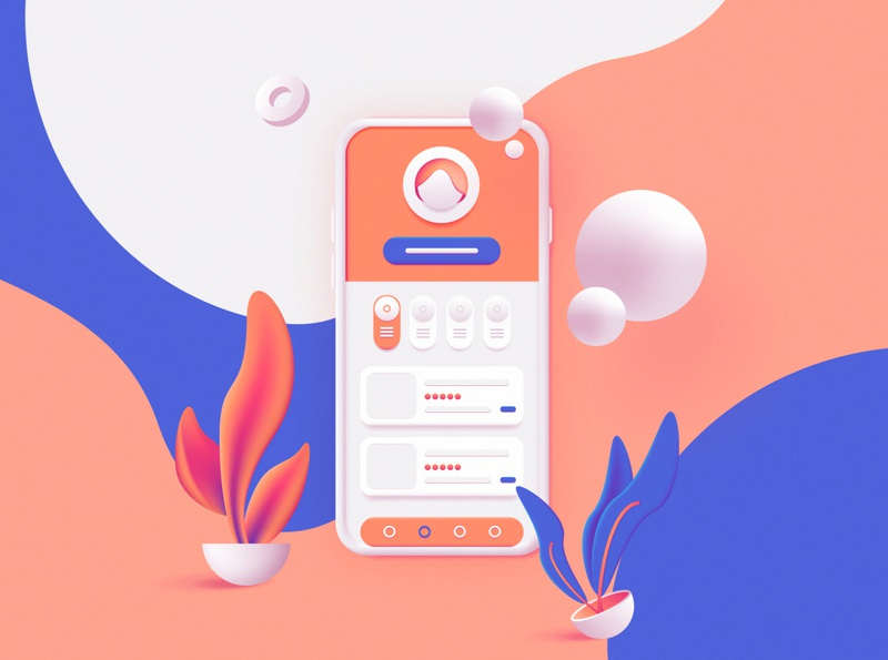 3D Toolkit – UI Elements Scene Creator mobile ui website illustration conceptual branding colorful abstract geometric ui design scene generator scene creator graphic resources vector illustration vector art soft ui 3d illustration 3d