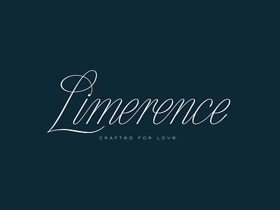 Limerence Lettering jewellery diamond typography lettermark lettering logo design curves