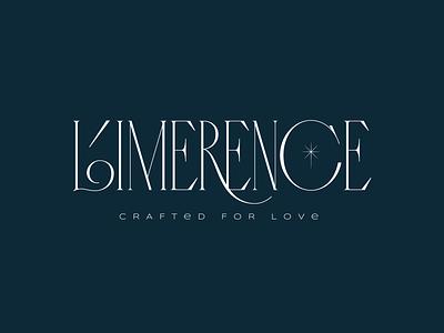 Limerence 2nd version lettering star diamond typography design branding curves logo