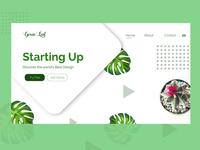Green Leaf Landing Page