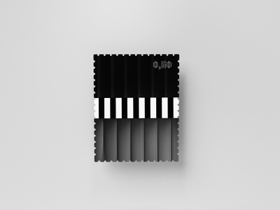 Stamp Series 02/03 series texture minimalistic black and white stamp abstract dribbbleweeklywarmup 2019