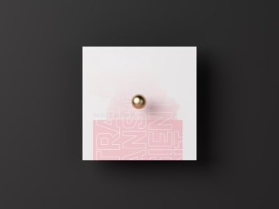 Gaelle Adisson - Transient coverdesign music art vinyl cover typographic dribbbleweeklywarmup minimalistic artwork 2019