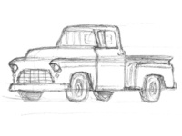 Scribble 55 Chevy Stepside