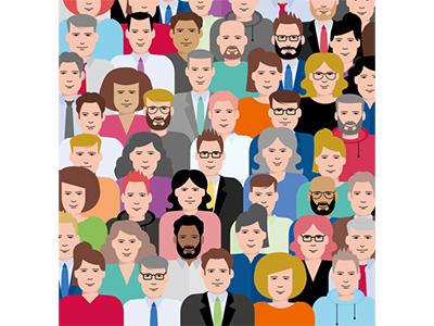 Diversity vector design flat  design illustration