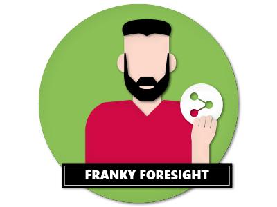 Personas Franky Foresight Papercut papercut vector illustration