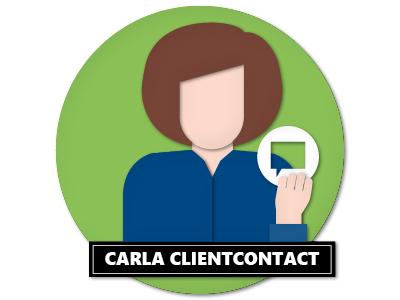 Personas Carla Clientcontact Papercut papercut vector illustration