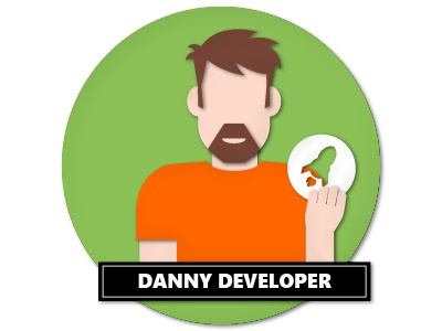 Personas Danny Developer Papercut papercut vector illustration