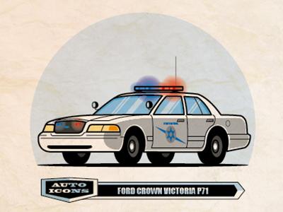 Crown Vic P71 line art vector illustration