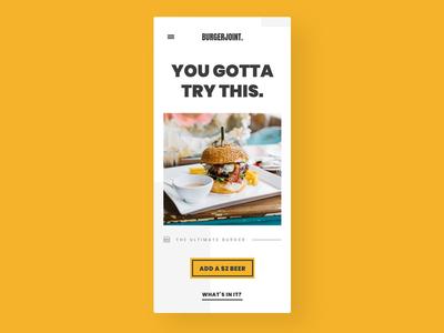 Restaurant homepage concept