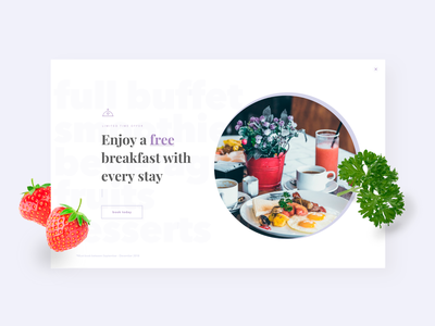 Website Pop-up overlay popup website dailyui016 016 hotel food daily 100 challenge typography icon web dailyuichallenge daily challange dailyui ux design ui