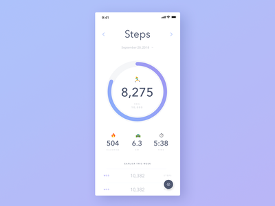Step Tracking App emojis analytics chart chart vector typography icon daily 100 challenge software app dailyuichallenge daily challange dailyui ux design ui