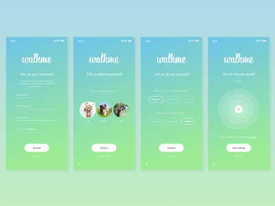 Onboarding UI pet app dog app dailyui023 023 daily 100 challenge software app dailyuichallenge daily challange dailyui ux design ui