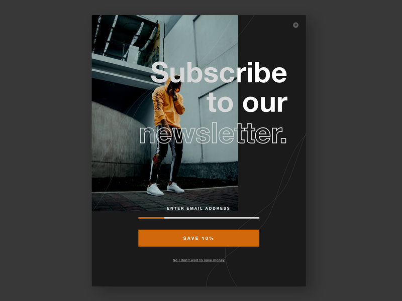 Subscribe to Newsletter UI dailyui026 026 clothing company subscribe newsletter ecommerce overlay popup website daily 100 challenge web typography dailyuichallenge daily challange dailyui ux design ui