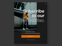 Subscribe to Newsletter UI