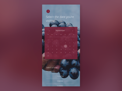 Calendar UI wine app winery wine dailyui038 038 website web software daily 100 challenge app dailyuichallenge daily challange dailyui ux design ui