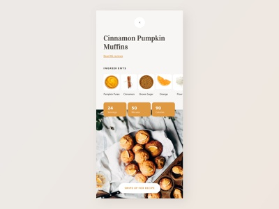 Recipe App dailyui040 040 food app recipe app application typography software daily 100 challenge app dailyuichallenge daily challange dailyui ux design ui