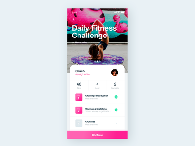 Workout Tracker UI dailyui042 042 fitness center fitness app workout of the day workout tracker workout app application typography software daily 100 challenge app dailyuichallenge daily challange dailyui ux design ui