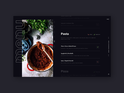 Food Menu Website daily 100 challenge dailyui043 043 restaurant menu restaurant design food menu menu design food and drink typography website web dailyuichallenge daily challange dailyui ux design ui