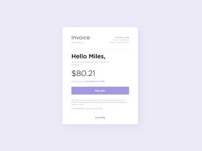 Phone Bill Invoice Concept