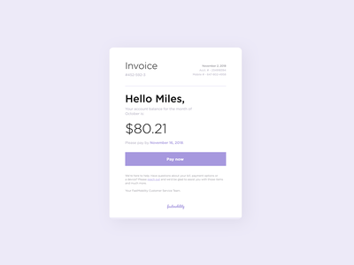 Phone Bill Invoice Concept bill payment invoices email template email design email marketing email campaign dailyui046 046 daily 100 challenge dailyuichallenge daily challange dailyui ux design ui