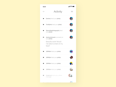 Activity Feed - Challenge 47 💛