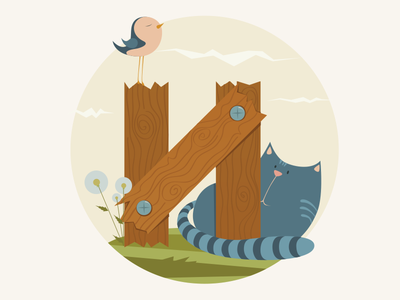 ABC book illustration abc illustration cat bird book children vector
