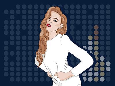 Fashion Girl vector portrait fashion girl