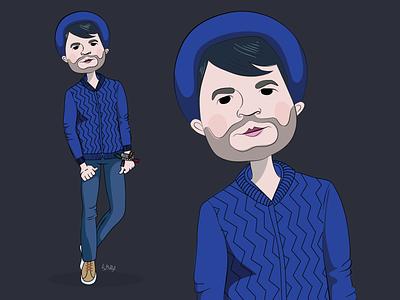 Fashion boy vector portrait fashion boy illustration cartoon