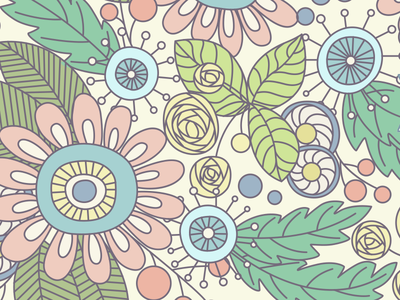 Cover art vector floral flowers cover