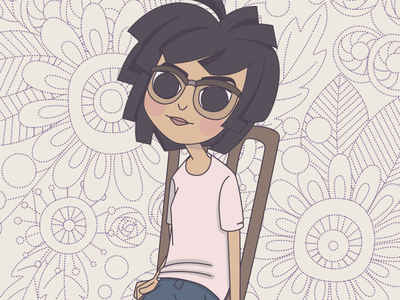 a part of self portrait portrait vector illustration