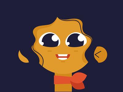 A girl illustrator illustration portrait profile flat avatar vector girl