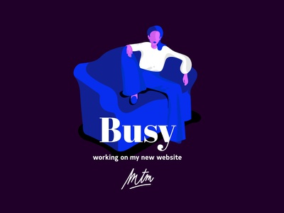 Busy Bro typefaces illustration