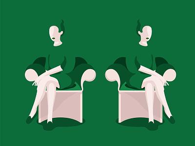 Twin sis' sisters illustration