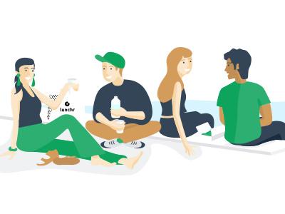 Summer Lunchr colors illustration