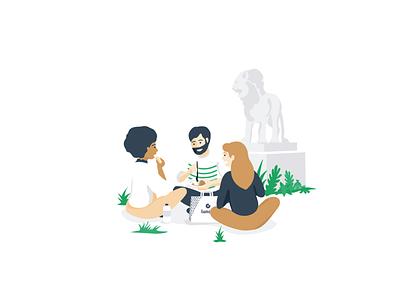lunchr startup illustration digital