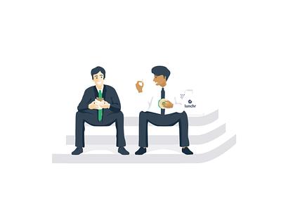 SummerLunch • Lunchr startup illustration digital