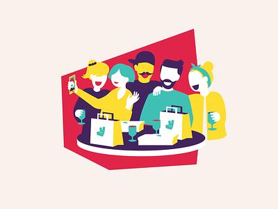 Deliveroo #havemoments digital campaign illustration