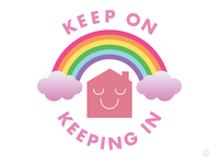 Keep On Keeping In staysafe stayhome coronavirus covid-19 locked down rainbow art vector illustrator illustration