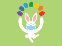Lockdown Easter Bunny rainbow eggs rainbow easter bunny easter easter eggs character design art vector illustrator illustration