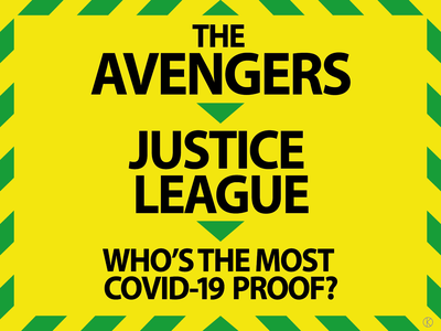 Who's the most Covid-proof superhero? flash aquaman superman batman cyborg wonderwoman blackwidow antman hawkeye captainamerica thor ironman hulk blackpanther spidey spiderman marvelcomics dccomics animation character design