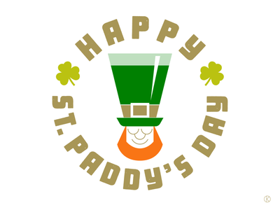 Happy St Paddy's Day! ireland irish guinness leprecaun shamrock orange green irishcelebration stpatricksday logo design character design letters art illustrator vector illustration