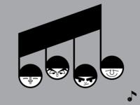 The Beatles for Instagram Vectober 2018