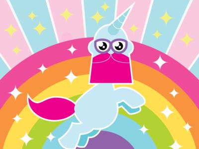Self portrait as a Unicorn stars mylittlepony rainbow unicorn colour color vectober2018 inktober 2018 caricature humour art illustrator character design vector illustration