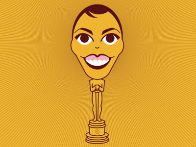 Olivia Colman, Oscar Winner oscars funny actor female academy awards oscars2109 caricature vector illustrator illustration