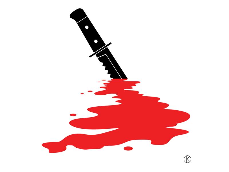 UK Knife Crime gangs streets vioence uk murder blood knives crime knife social issues illustrator vector illustration