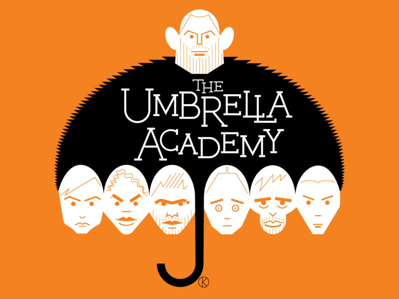 The Umbrella Academy superheroes superhero netflix umbrellaacademy comics darkhorse character design art vector illustrator illustration